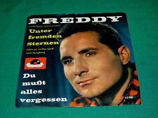 "FREDDY QUINN ""Unter Fremden Sternen"" 45 w/PS @ 1959 German POP : Polydor"