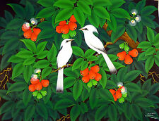 Hand painting Balinese Bali Starling Jalak Bell Fruits Intricate Work 199