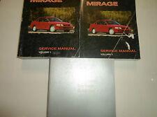 1998 MITSUBISHI Mirage Service Repair Shop Manual 3 VOL SET FACTORY OEM WORN 98