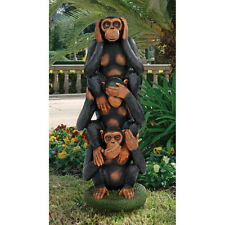 Grand Scale Monkey Trio Hear No Evil, See No Evil, Speak No Evil, Sculpture