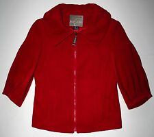 Mac & Jac Women's Red 3/4 Sleeve Wool / Cashmere Jacket, Size Medium EUC!
