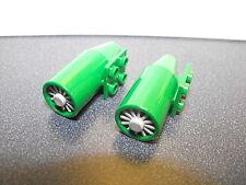 Lego Lot Of 2 Green Airplane Motors With Turbines Batman Type