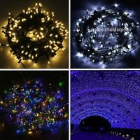Solar Power 100/200 LED String Fairy Lights Garden Outdoor Xmas Party Lamp Decor