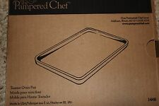 Pampered Chef Stoneware Toaster Oven Pan Item #1448 Small bar pan