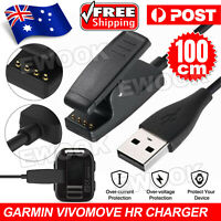 USB Charging CABLE Clip Charger Cord for Garmin Vivomove HR Approach S20 G10 OZ