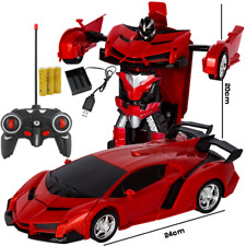 Toys for Kids Transformation Robots RC Car Remote Control Deformation Xmas Gift