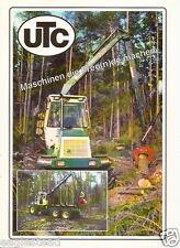 Equipment Brochure - Utc - F 1060 - Logging Forwarder - c1992 (E1931)