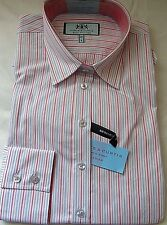 Hawes & Curtis Womens Stripes Semi-fitted Cotton Elegant Shirt Single Cuff Multi-colour 8