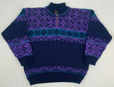 DALE of norway gore ws windstopper 1/4 zip button heavy wool pullover sweater m