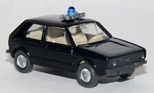 Wiking VW Golf 1 i Polizia Nero MP polizia militare BGS Autocostruzione Modello 1:87 h0