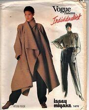 Issey Miyake Vogue 1476 Sewing Pattern Coat Shirt &  Pants Size 8 Uncut