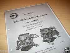 Mercedes 220 Sb, Solex Stufen Fallstromvergaser Typ 34 PAITA - Ersatzteileliste