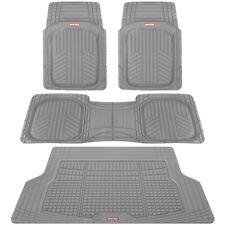 4 PC Car Floor Mats Motor Trend Gray Odorless Trimmable Deep Dish & Cargo Liner