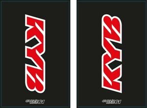 Autocollants Stickers Fourche moto épais KYB Noir (YZ, yzf, cr, crf, rm , kx...)