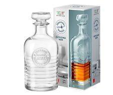 Karaffe mit Glasstopfen 1 Liter Whisky Dekanter Scotch Likör Cognac Wein Flasche