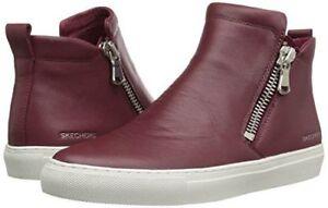 New Skechers Vaso Bota Leather Sneaker Bootie Style 48869  sz 7.5