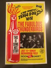 THE FABULOUS THUNDERBIRDS ORIGINAL VINTAGE HAWAII CONCERT POSTER