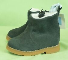 281 Janie and Jack boys Gift/ holiday  gray suede boots shoes NWOB Size 4