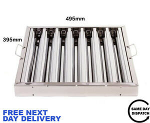 Canopy Grease Baffle Filter Stainless Steel Kitchen Extraction Hood 395x495mm