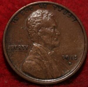 1915-D Denver Mint Copper Lincoln Wheat Cent