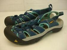 Women's 9 M Keen Newport H2 Sport Sandals Waterproof Bungee Slip-On Blue Nylon