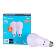 12 EcoSmart LED 100W watt Replacement Soft White A19 Dimmable Light Bulbs 2700K