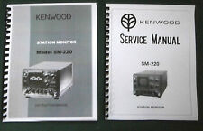 Kenwood SM-220 Service & Instruction Manuals - Card Stock Covers & 32 LB Paper!