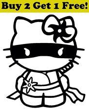 Hello Kitty Ninja Decal Sticker Car Bumper Window Wall Cute Cat Full Mask