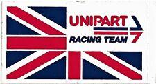 Large Vintage Original Complete+Backing Unipart Racing Team Sticker