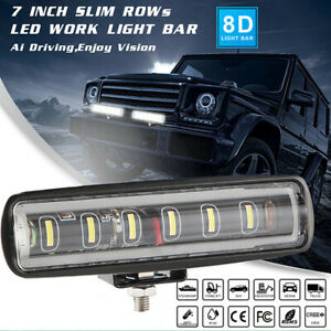 "1x 7"" 90W LED Work Light Bar Spot Beam For Off Road Fog Lamp Truck 4WD Boat"