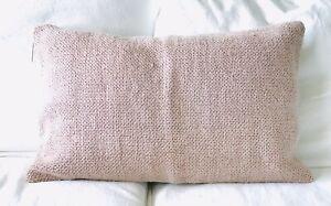 NWT Pottery Barn Faye Textured Linen Lumbar Pillow Cover Mauve / Pink 16 x 26