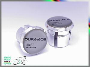 Dura Ace 7400 Plugs end Caps Tapones bouchons lenker vintage style silver 3d New