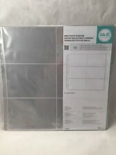 "We-R-Memory Keepers 12x12"" Pages for Ringed Albums Holds 6 4x6"" 10 Sheet Pack"