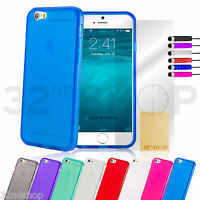 Crystal Gel Silicone case cover for Apple iPhone 5 5S 6 PLUS screen protector