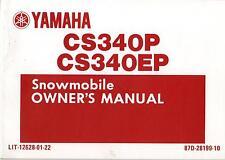 1990 YAMAHA  CS340P & CS340EP  LIT-12628-01-22 SNOWMOBILE OWNERS MANUAL (305)