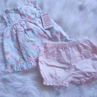 New JUST ONE YOU Made By Carter's Baby Girls Tops & Shorts 2 Piece Set, Size 3M