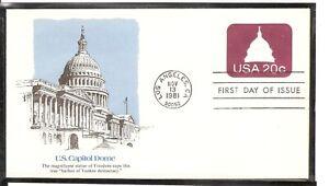 US Scott # U601 Capitol Dome FDC. Fleetwood cachet.