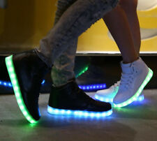 SKETCHERS S-Lights Energy Lights Black High Tops Leather Sneakers s-3Y SALE