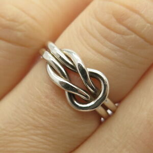 925 Sterling Silver Love Knot Design Ring Size 6.5