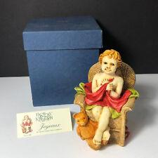 Harmony Kingdom Angelique vintage figurine nib box Joyeaux angel toy chair bear
