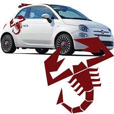 Fiat 500 Abarth Scorpion Voiture bandes latérales autocollants drapeau italien Decal Graphic