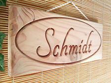 Schild, Türschild - Holz Douglasie - mit Gravur, Ihr Name, für Haus, Garten, Tür