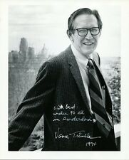 VANCE TRIMBLE Signed Letter & Signed Photo - Pulitzer Prize Journalist