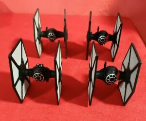 Lot of 4 Star Wars Game First Order Miniature Tie-Fighters