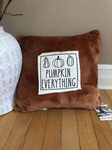 rae dumn pumpkin everything halloween pillow HTF
