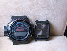 Lot of 2 CASIO BM 500W  Weather Station & AQ-48 Dual Time Men's One RUNNING