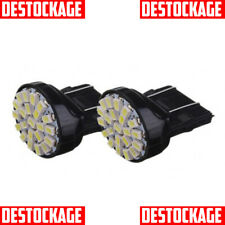 2 AMPOULES W21/5W T20 LED SMD 6000K XENON LAMPE PHARE FEUX TUNING BLANC PUR