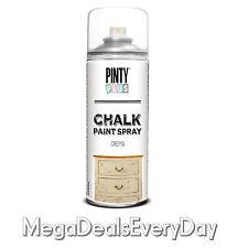 6 X Pinty Plus Chalk Furntiure Spray Paint Shabby Chic Vintage New Colours 400ml