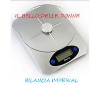 IMPERIAL bilancia digitale da 1 gr fino a 5 kg elettronica piano IN VETRO