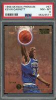 Kevin Garnett 1996 Skybox Premium Basketball Rookie Card #67 PSA 8
